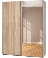 Garderobenschrank Soft Smart 150 cm breit in 2 Tiefen CS Schmal braun