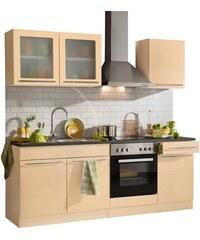Küchenzeile Malta mit E-Geräten Breite 210 cm HELD MÖBEL natur