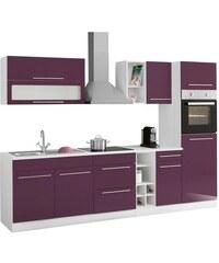 Küchenzeile Avignon mit E-Geräten Breite 290 cm HELD MÖBEL lila