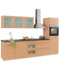 HELD MÖBEL Küchenzeile Malta mit E-Geräten Breite 300 cm natur