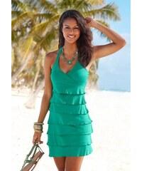 Damen Kurzes Neckholderkleid Beachtime grün 34,36,38,40,42