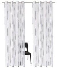 Gardine Dimona hellgrundig (2 Stück) MY HOME weiß 1 (H/B: 145/140 cm),2 (H/B: 175/140 cm),3 (H/B: 225/140 cm),4 (H/B: 245/140 cm)