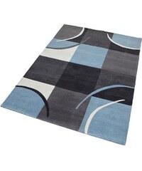Teppich exklusiv Magnus handgetuftet Wolle 3,7 kg/m² THEKO EXKLUSIV blau 7 (B/L: 240x320 cm),8 (B/L: 290x390 cm)