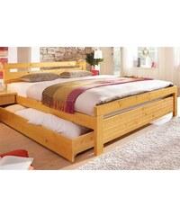 Baur Bett gelb honigfarben gebeizt