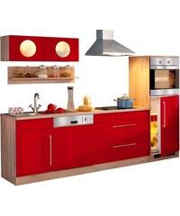 Küchenzeile Keitum Breite 270 cm mit Induktionskochfeld HELD MÖBEL rot