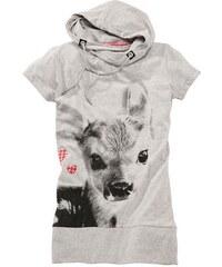 Damen Trachtenshirt mit Aufdruck und Kapuze MARJO grau L (40),M (38),S (36),XL (42),XS (34)