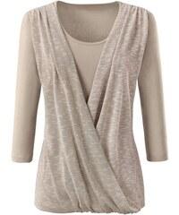 Damen Création L Shirt mit edel glänzender Strick-Qualität CRÉATION L natur 36,38,40,42,44,46,48,50,52