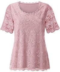Damen Lady Shirt mit verziertem Rundhals-Ausschnitt LADY rosa 36,38,40,42,44,46,48,50,52,54