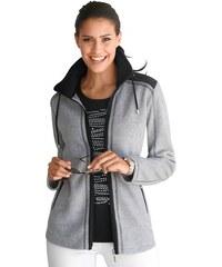 Collection L. Fleece-Jacke in herrlich flauschiger Qualität COLLECTION L. grau 36,38,40,42,44,46,48,50,52,54