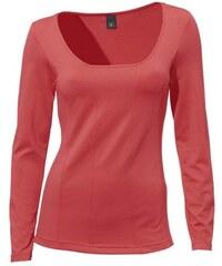 Damen Carré-Shirt Langarm PATRIZIA DINI rot 34,36,38,40,42,44,46,48