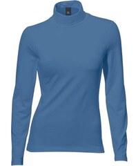 Damen Rollkragen-Shirt Langarm PATRIZIA DINI by Heine blau 34,36,38,40,42,44,46,48