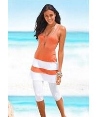 Damen Capri-Leggings mit Raffung Beachtime weiß 36/38,40/42,44/46,48/50,52/54