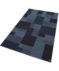 Tom Tailor Teppich Patch Denim handgewebt reine Schurwolle blau 1 (B/L: 50x80 cm),2 (B/L: 65x135 cm),3 (B/L: 85x155 cm),5 (B/L: 160x230 cm),6 (B/L: 190x290 cm)