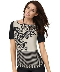 MIMOSKA Damen Mimoska Blusenshirt in elastischer Jersey-Qualität natur 38,40,42,44,46,48,50,52