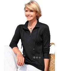 COLLECTION L. Damen Collection L. Shirt mit Wiener Nähte vorne schwarz 36,38,40,42,44,46,48,50,52,54