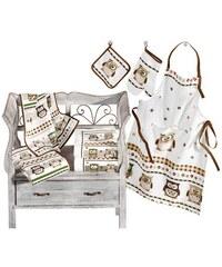 Küchenprogramm Baur natur 1 (50x50 cm, 2 Frottier-Küchentücher),2 (50x50 cm, 4 Frottier-Küchentücher),3 (20x20 cm, 2 Topflappen),4 (2 Ofenhandschuhe),5 (Schürze)