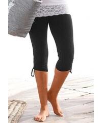 Beachtime Damen Capri-Leggings mit Raffung schwarz 36/38,40/42,44/46,48/50,52/54