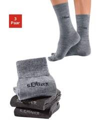 RED LABEL Bodywear Socken (3 Paar) außen mit Wolle Made in Germany S.OLIVER RED LABEL grau 35-38,39-42
