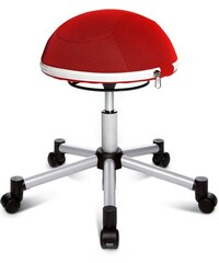 Fitness-Hocker Sitness Half Ball TOPSTAR rot