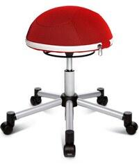 Fitness-Hocker Sitness Half Ball TOPSTAR rot
