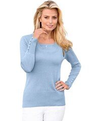 Damen Classic Inspirationen Pullover mit höherem Rippbund an Saum CLASSIC INSPIRATIONEN blau 36,38,40,42,44,46,48,50,52,54