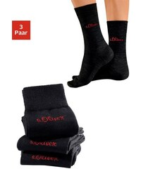 S.OLIVER RED LABEL RED LABEL Bodywear Socken (3 Paar) außen mit Wolle Made in Germany schwarz 35-38,39-42