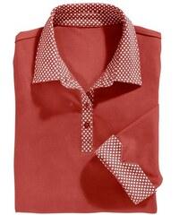 Damen Classic Basics Poloshirt mit Sternchen-Muster bedruckt CLASSIC BASICS rot 36,38,40,42,44,46,48,50,52,54