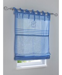 Raffrollo Heine Home blau ca. 140/120 cm,ca. 140/45 cm,ca. 140/60 cm