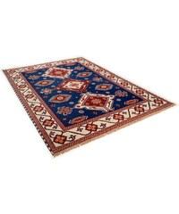 Orient-Teppich , Kazak Imperial ,4 kg/m² 75 000 Knoten/m² handgeknüpft reine Schurwolle THEKO blau 1 (B/L: 60x90 cm),2 (B/L: 70x140 cm),6 (B/L: 190x290 cm)