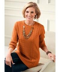 Damen Classic Basics Pullover in angenehm weicher Qualität CLASSIC BASICS orange 38,40,42,44,46,48,50,52,54,56