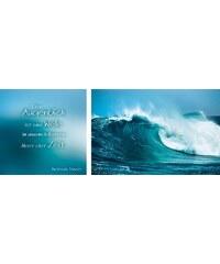 HOME AFFAIRE Kunstdruck (2er-Set) 100/40 cm blau 1 (40/40+60/40 cm)