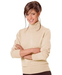 COLLECTION L. Damen Collection L. Pullover mit Rollkragen beige 36,38,40,42,44,46,48,50,52,54