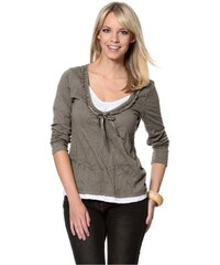 Cheer Damen 2-in-1-Shirt braun 34,36,38,40,42,44,46