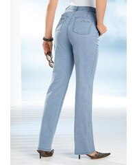 CLASSIC BASICS Damen Classic Basics Jeans mit Glitzersteinchen in Wellenform blau 38,40,42,44,46,48,50,52,54,56