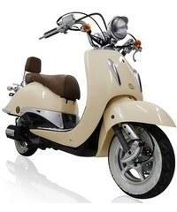 Motorroller Titano 125 ccm 85 km/h 8,57 PS cremeweiß mit Rollergarage MOTOWORX weiß