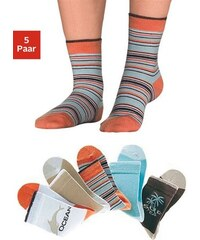 Farbenfrohe Socken (5 Paar) mit verstärkter Ferse & Spitze H.I.S orange 19-22,23-26,27-30,31-34,35-38,39-42