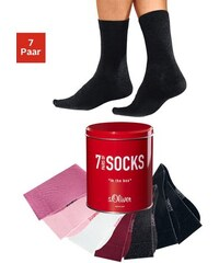 S.OLIVER RED LABEL Freizeit- und Businesssocken (7 Paar) in der Box Farb-Set 31-34,35-38,39-42,43-46,47-48