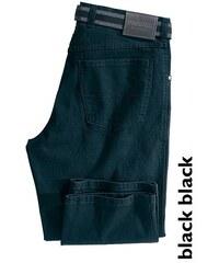 Stretch-Jeans Peter (Set mit Gürtel) PIONIER JEANS & CASUALS schwarz 48,50,52,54,56,58,60,62