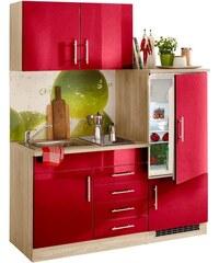 Single-Küche Toledo Breite 160 cm HELD MÖBEL rot