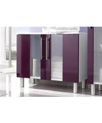 Bad KESPER Waschbeckenunterschrank Visby auf Füßen lila