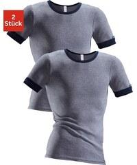Exclusive Unterhemd (2 Stück) modische Optik: Jeans meliert tolle Baumwoll-Qualität CLIPPER EXCLUSIVE blau 4,5,6,7,8,9,10