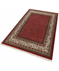 PARWIS Teppich Parwis Indo Mir Ghalip 4kg/m² 75 000 Knoten/m² handgeknüpft Wolle rot 1 (B/L: 60x90 cm),10 (B/L: 90x160 cm),3 (B/L: 120x180 cm),4 (B/L: 170x240 cm),6 (B/L: 200x300 cm)