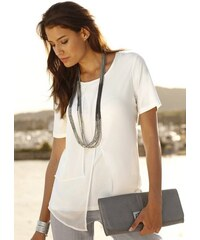 Damen Création L Shirt in Lagen-Optik CRÉATION L weiss 36,38,40,42,44,46,48,50,52