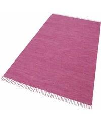 Teppich Happy Cotton Melange-Effekt handgewebt reine Baumwolle THEKO rot 1 (B/L: 40x60 cm),2 (B/L: 60x120 cm),3 (B/L: 70x140 cm),4 (B/L: 90x160 cm),5 (B/L: 120x180 cm),6 (B/L: 160x230 cm)