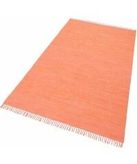 Teppich Happy Cotton Melange-Effekt handgewebt reine Baumwolle THEKO orange 1 (B/L: 40x60 cm),2 (B/L: 60x120 cm),3 (B/L: 70x140 cm),4 (B/L: 90x160 cm),5 (B/L: 120x180 cm),6 (B/L: 160x230 cm)