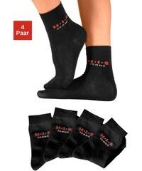 Basic-Socken (4 Paar) Made in Germany H.I.S schwarz 19-22,23-26,27-30,31-34,35-38,39-42,43-46