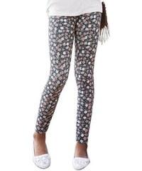 Arizona Leggings mit Blumen-Muster für Mädchen schwarz 128/134,140/146,152/158,164/170,176/182