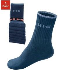 Sportsocken (6 Paar) mit Frottee & verstärkten Belastungszonen H.I.S blau 35-38,39-42,43-46,47-48