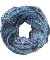 J. JAYZ Damen Loop dekorativ gemustert blau