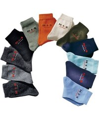 H.I.S Basic-Socken (4 Paar) Made in Germany grau 19-22,23-26,27-30,31-34,35-38,39-42,43-46